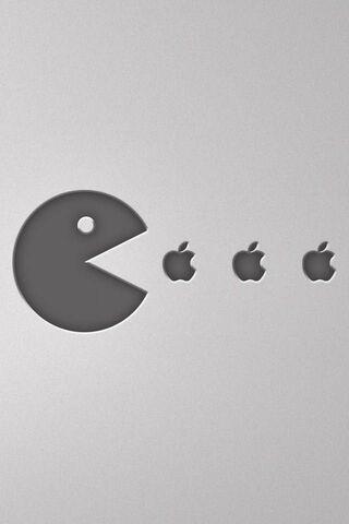 Pacman खाती है Apple