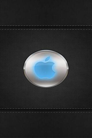 ब्लू-चमक-एप्पल-लोगो