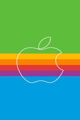 Logo retro jabłko
