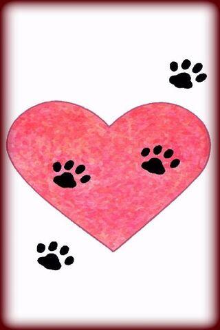 Paw-Prints Heart Art