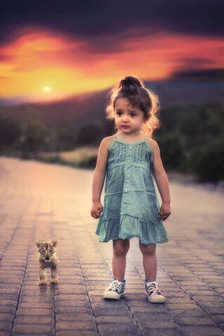 Cute Girl N Cat