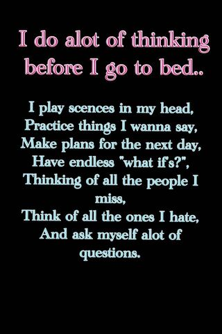 Thinking Before Bed