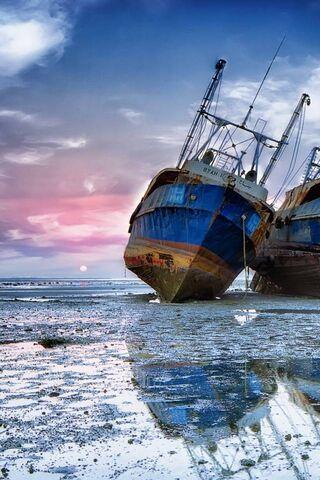 Barco en hielo
