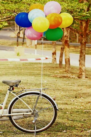 Balloons In The Bike