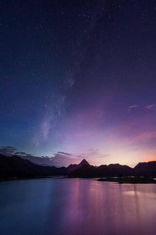 Puesta de sol púrpura