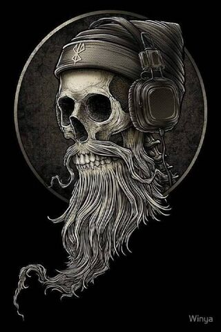 Wicked Bearded Skull