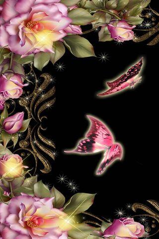 Papillon et fleur