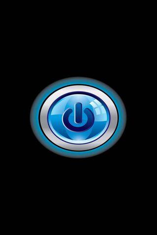 Button Power Blue