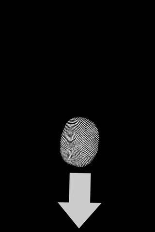 Impronta digitale nera