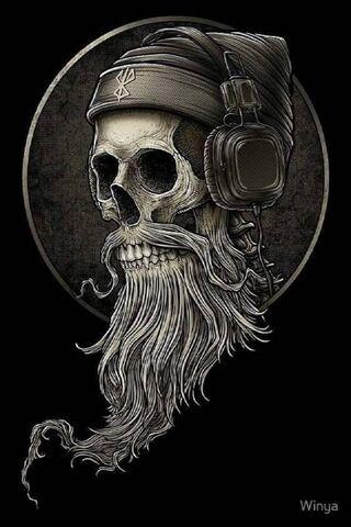 Wicked Bearded Skull